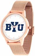BYU Cougars Rose Mesh Statement Watch