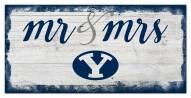 BYU Cougars Script Mr. & Mrs. Sign
