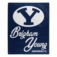 BYU Cougars Signature Raschel Throw Blanket