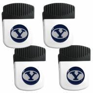 BYU Cougars 4 Pack Chip Clip Magnet with Bottle Opener