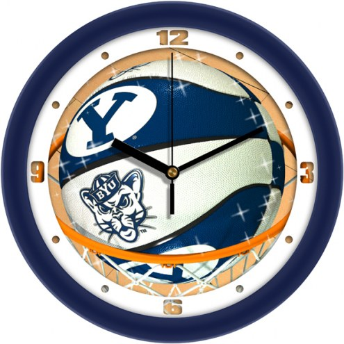 BYU Cougars Slam Dunk Wall Clock