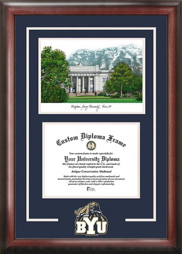BYU Cougars Spirit Diploma Frame with Campus Image