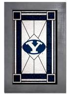 BYU Cougars Stained Glass with Frame
