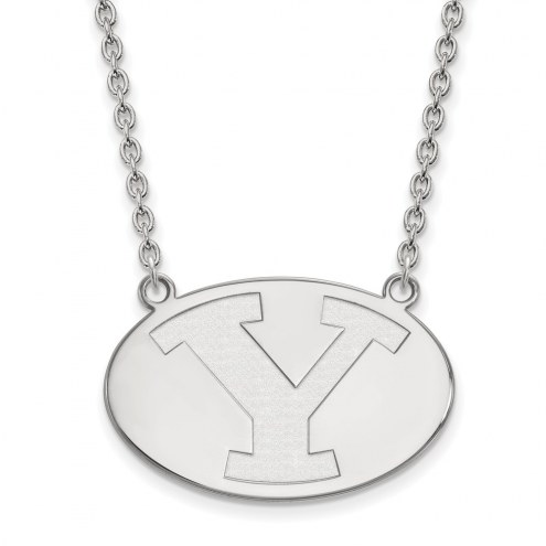 BYU Cougars Sterling Silver Large Pendant Necklace