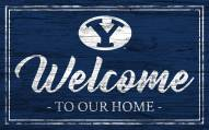 BYU Cougars Team Color Welcome Sign