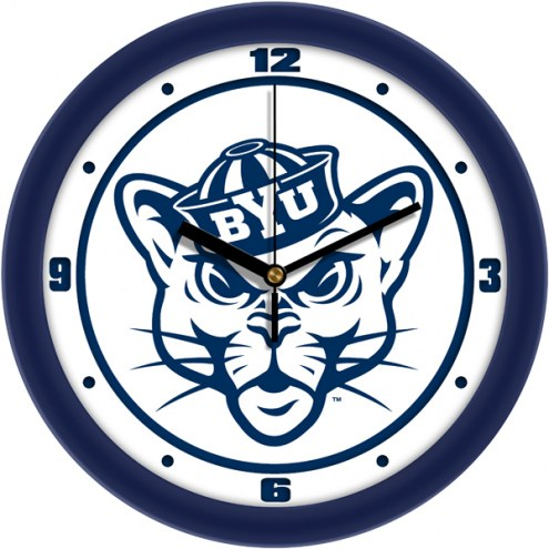 BYU Cougars Traditional Wall Clock