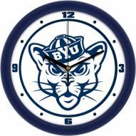 BYU Cougars Traditional Wall Clock