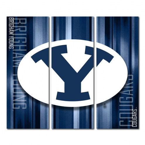 BYU Cougars Triptych Rush Canvas Wall Art