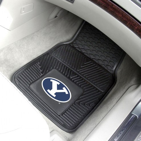 BYU Cougars Vinyl 2-Piece Car Floor Mats