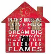 "Calgary Flames 12"" House Sign"