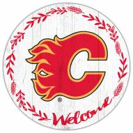 """Calgary Flames  12"""" Welcome Circle Sign"""