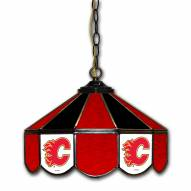 "Calgary Flames 14"" Glass Pub Lamp"