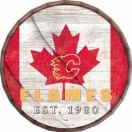 """Calgary Flames  16"""" Flag Barrel Top"""