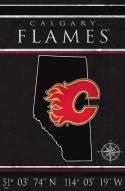 "Calgary Flames  17"" x 26"" Coordinates Sign"