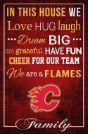 """Calgary Flames  17"""" x 26"""" In This House Sign"""