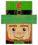 "Calgary Flames 19"" x 16"" Leprechaun Head"