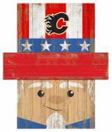 """Calgary Flames 19"""" x 16"""" Patriotic Head"""