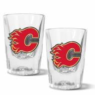Calgary Flames 2 oz. Prism Shot Glass Set