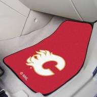 Calgary Flames 2-Piece Carpet Car Mats