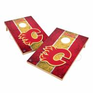 Calgary Flames 2' x 3' Vintage Wood Cornhole Game