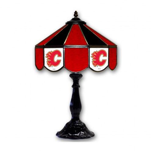 "Calgary Flames 21"" Glass Table Lamp"
