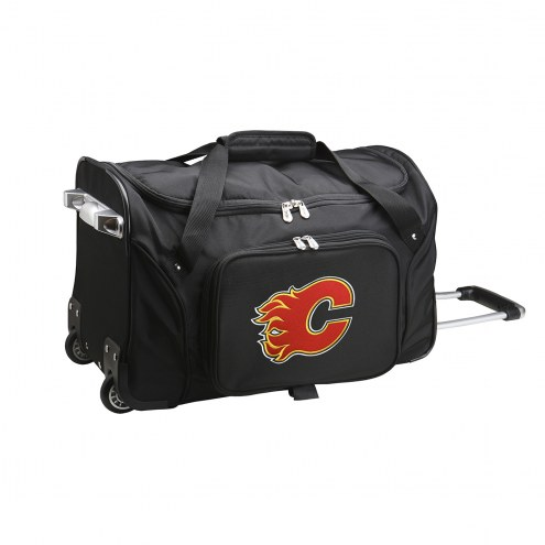 "Calgary Flames 22"" Rolling Duffle Bag"
