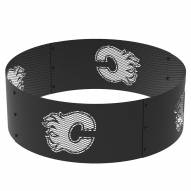"""Calgary Flames 36"""" Round Steel Fire Ring"""