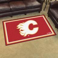 Calgary Flames 4' x 6' Area Rug