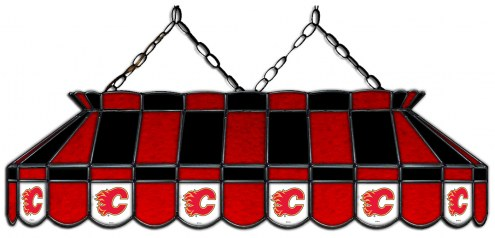 "Calgary Flames 40"" Stained Glass Pool Table Light"