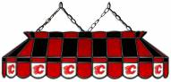 """Calgary Flames 40"""" Stained Glass Pool Table Light"""