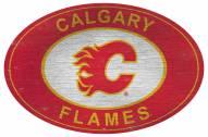 "Calgary Flames 46"" Heritage Logo Oval Sign"