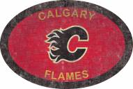 """Calgary Flames 46"""" Team Color Oval Sign"""