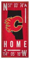"Calgary Flames  6"" x 12"" Coordinates Sign"