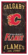 "Calgary Flames  6"" x 12"" Heritage Sign"