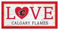 "Calgary Flames 6"" x 12"" Love Sign"