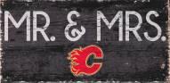 "Calgary Flames 6"" x 12"" Mr. & Mrs. Sign"