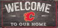"""Calgary Flames 6"""" x 12"""" Welcome Sign"""