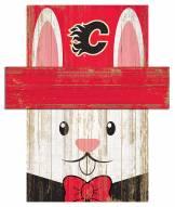 "Calgary Flames 6"" x 5"" Easter Bunny Head"