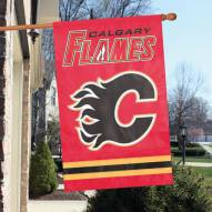 Calgary Flames Applique Banner Flag