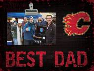 Calgary Flames Best Dad Clip Frame
