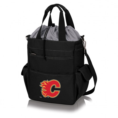 Calgary Flames Black Activo Cooler Tote