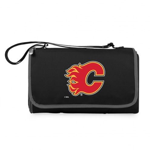 Calgary Flames Black Blanket Tote