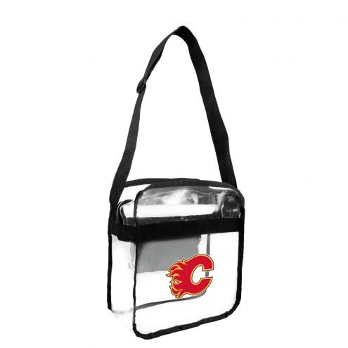 Calgary Flames Clear Crossbody Carry-All Bag