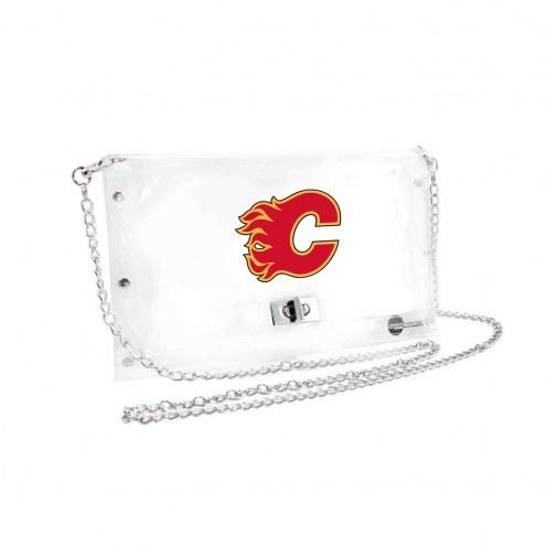 Calgary Flames Clear Envelope Purse