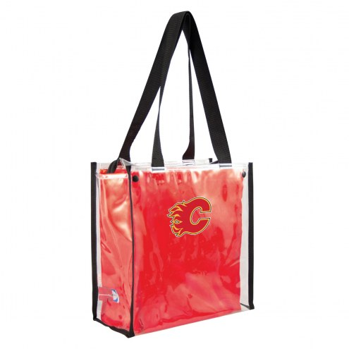Calgary Flames Convertible Clear Tote