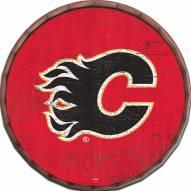 "Calgary Flames Cracked Color 24"" Barrel Top"