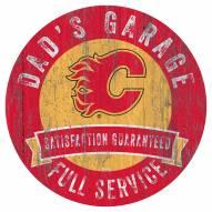 Calgary Flames Dad's Garage Sign