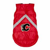 Calgary Flames Dog Puffer Vest