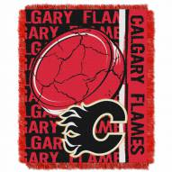 Calgary Flames Double Play Woven Throw Blanket
