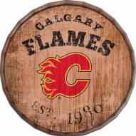 "Calgary Flames Established Date 24"" Barrel Top"